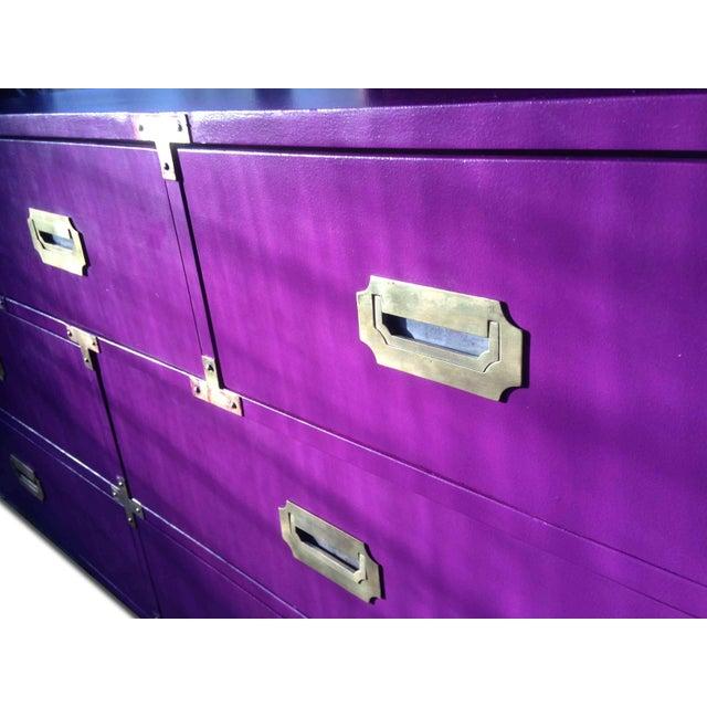 Vintage Campaign Purple Chest - Image 3 of 10