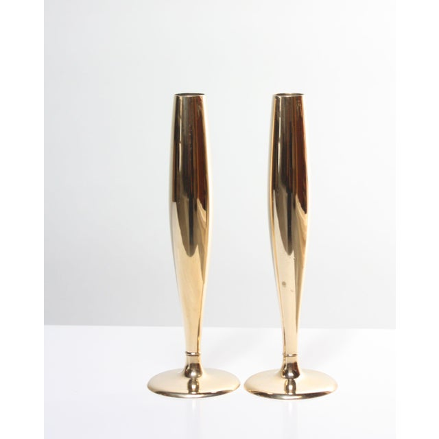 Art Deco Dirigold Goldware Bud Vases - A Pair - Image 2 of 6