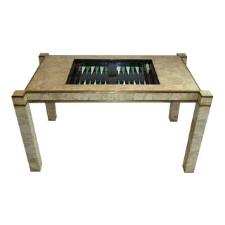 Animal Horn Patchwork-Clad Backgammon Table