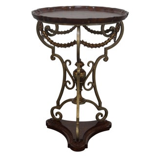 Maitland-Smith Scalloped Side Table