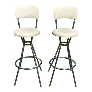 Mid-Century Cosco Swivel Bar Stools - A Pair