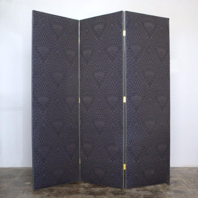 Image of York Privacy Screen with Brass Hinges