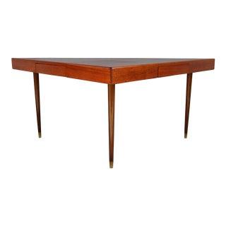 Harvey Probber Triangular Two Drawer Table Desk