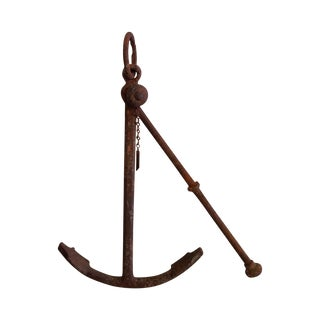 Vintage Belgian Iron Anchor