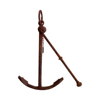 Vintage Belgian Iron Anchor