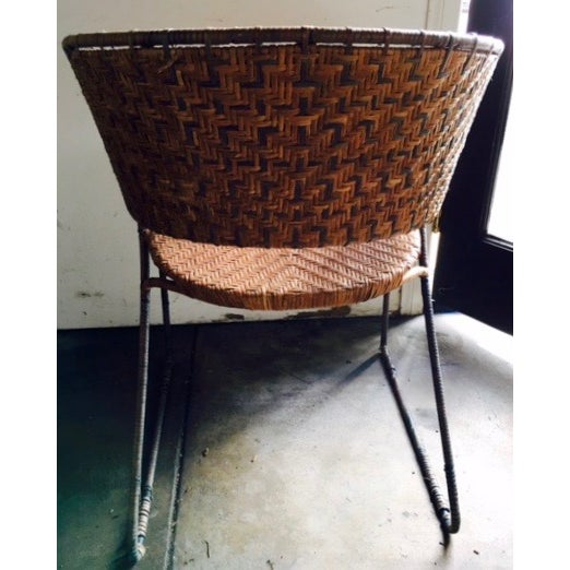 French Woven Side Chairs - A Pair - Image 4 of 5