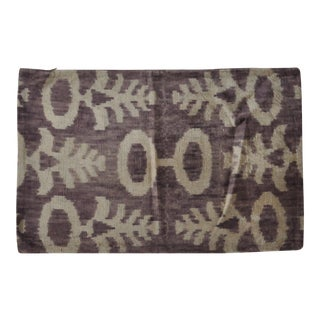 Purple Silk Velvet Ikat Pillow