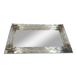 Art Deco Venetian Style Vanity Mirrored Tray