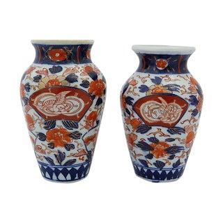 Antique Japanese Imari Vases - A Pair