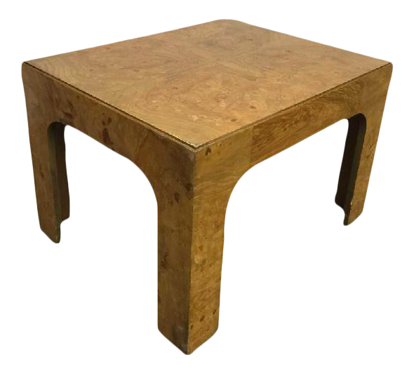 Milo Baughman Circa 1970 Burlwood Coffee Table