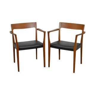 Danish Modern Teak Arm Chairs by Svegards Markaryd - A Pair