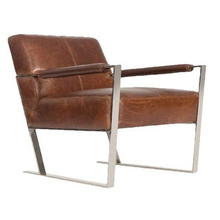 Brown Leather Uno Chair