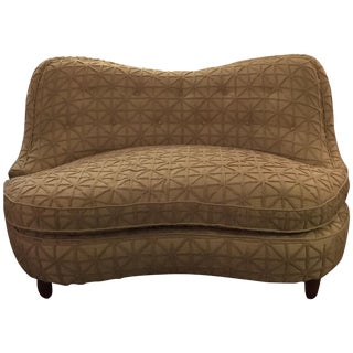 Deco Scalloped Settee