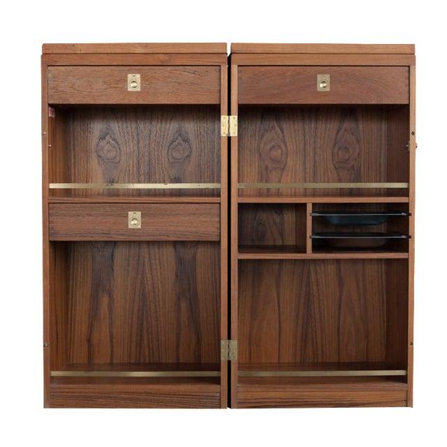 Image of Rolling Teak Bar Cabinet