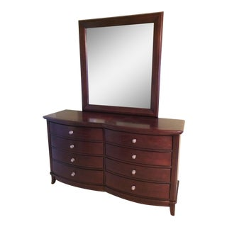 Marlo Furniture Contemporary Dresser with Mirror