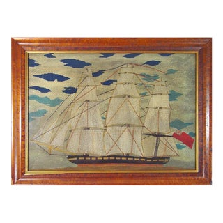 Sailor's Woolwork Woolie Large Picture of a Ship.