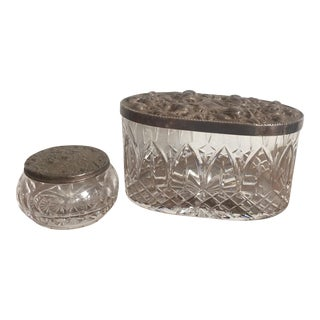 Leaded Crystal Cut Boxes - A Pair