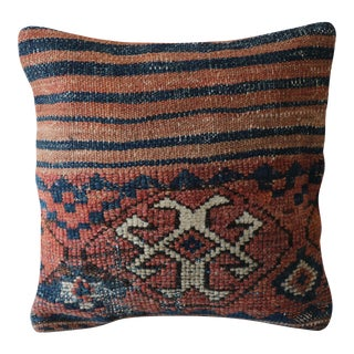 Oriental Rug Pillow - Vintage Hand-Knotted Wool Rug Pillowcase