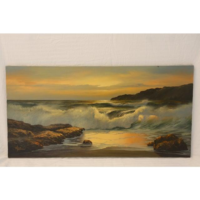 Vintage William Hoffman Seascape Painting - Image 2 of 5