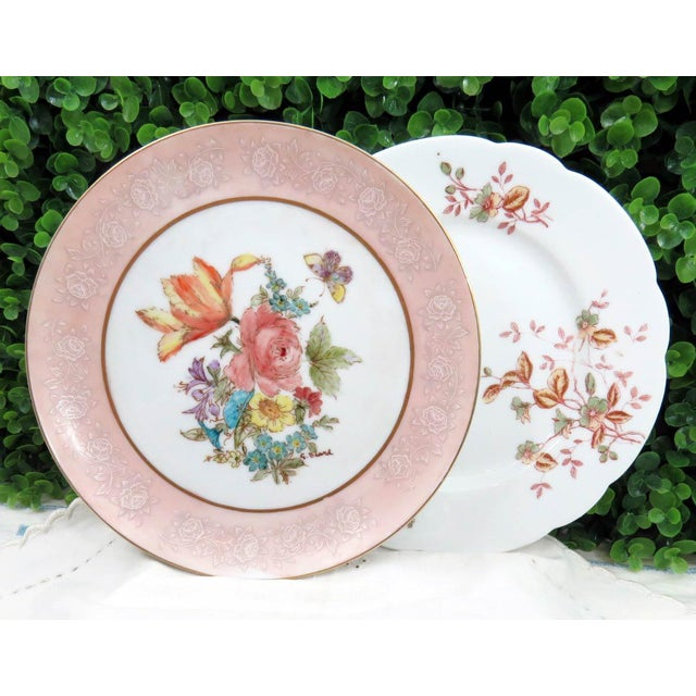 Mismatched Vintage Hand Painted Plates - Set of 4 - Image 7 of 11