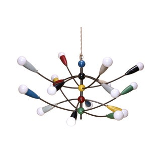 Colorful Sixteen Arm Italian Chandelier