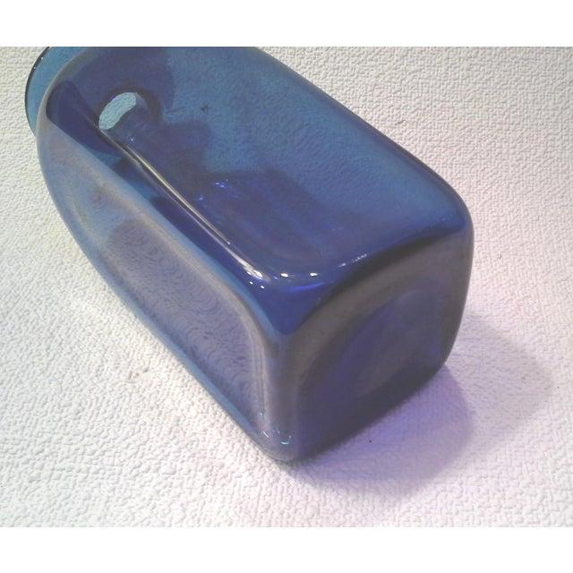 Mid-Century Blue Bottle Vase - Image 3 of 4