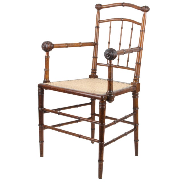 R.J. Horner & Co. Faux-Bamboo Armchair - Image 1 of 10