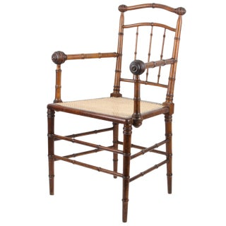 R.J. Horner & Co. Faux-Bamboo Armchair