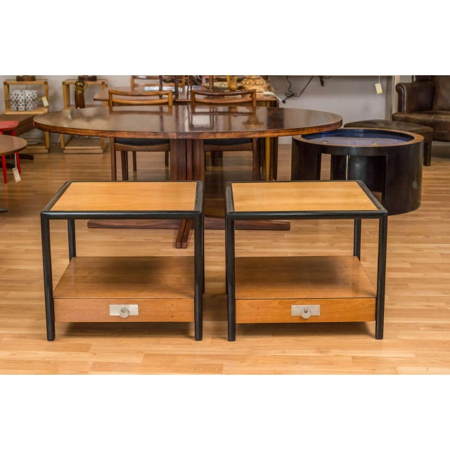 Image of New World End Tables by Michael Taylor for Baker