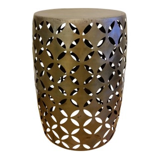 Geometric Cut Garden Stool