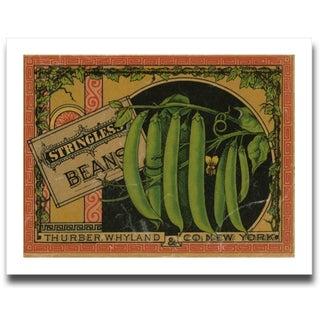 Vintage Green Bean Label Archival Print
