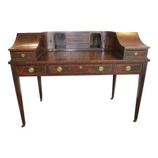 Sheraton Style Mahogany Carlton House Desk