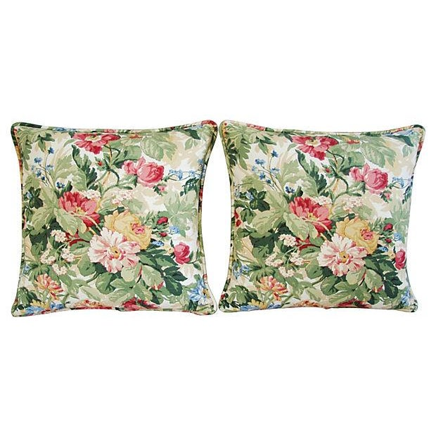 Custom P. Kaufmann Floral Bouquet Pillows - Pair - Image 7 of 8