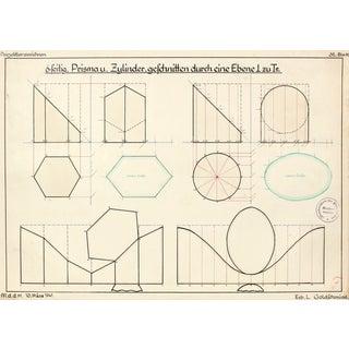 1941 Watercolor and Ink Engineering Study II
