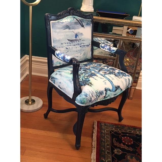 French Louis XV Style Padded Arm Chair - Image 2 of 3