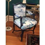 Image of French Louis XV Style Padded Arm Chair