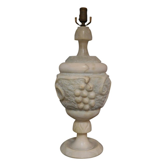 Large Art Deco Alabaster Lamp - Image 1 of 5