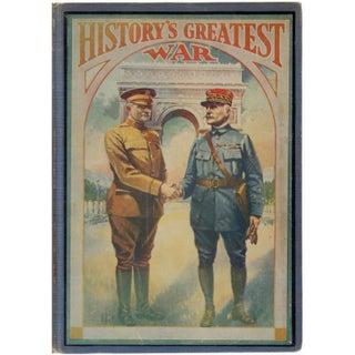"""History's Greatest War"" Book Circa 1919"