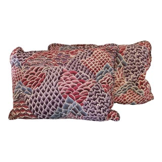 Braquenie Pierre Frey French Pillows - a Pair