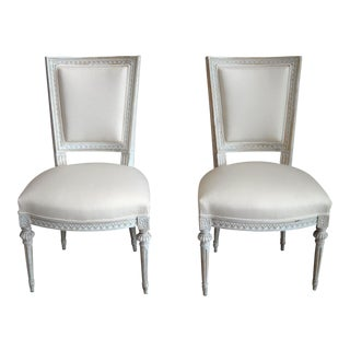 Pair of Square-Backed Swedish Chairs (94-14A)