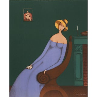 Branko Bahunek, Woman With Book, Lithograph