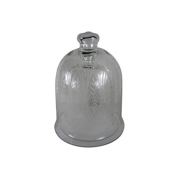 Vintage Etched Glass Nesting Domes - S/2 - Image 6 of 8