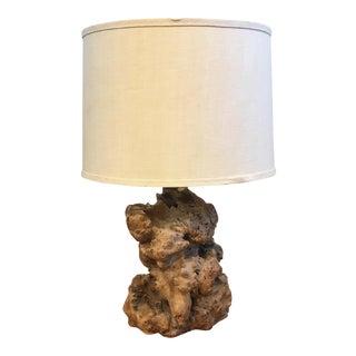 1960s Vintage Burl Table Lamp