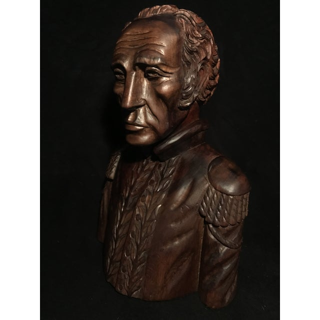 Circa 1970 Carved Wood Statue - Image 2 of 11