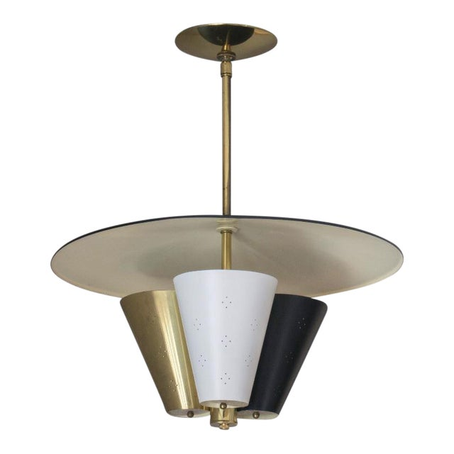 Mid-Century Tricone Reflector Lightolier Fixture - Image 1 of 4