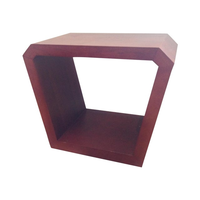 Image of Wooden Geometric Side Tables - Pair