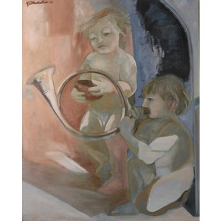 """Allegorical Scene 3"" Figural Painting"