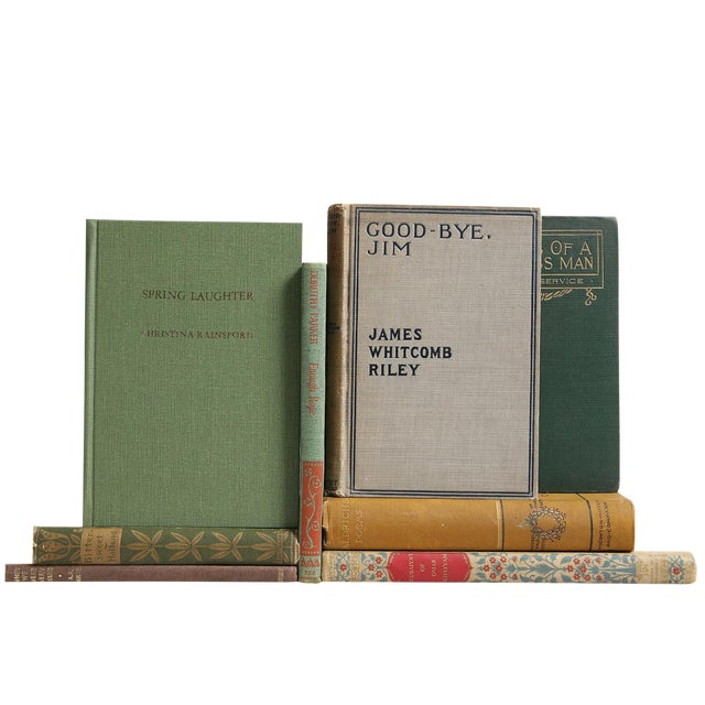 Image of Antique & Vintage Poetry Books - Set of 8