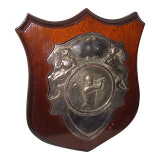 Vintage English Art Nouveau Gold Trophy Plaque