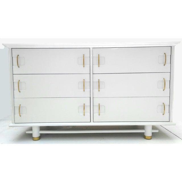 Kent Coffey Mid Century Dresser and Mirror - Image 9 of 10